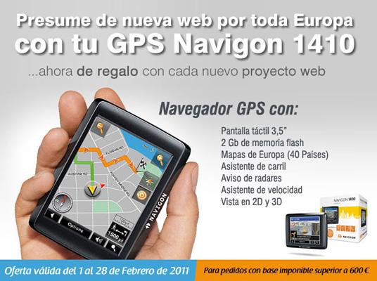 Navegador GPS de regalo incluido en tu web
