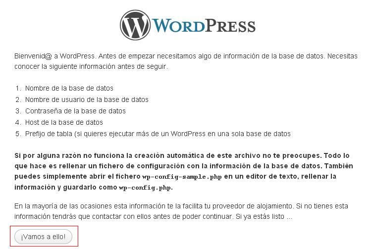 Instalando WordPress 5